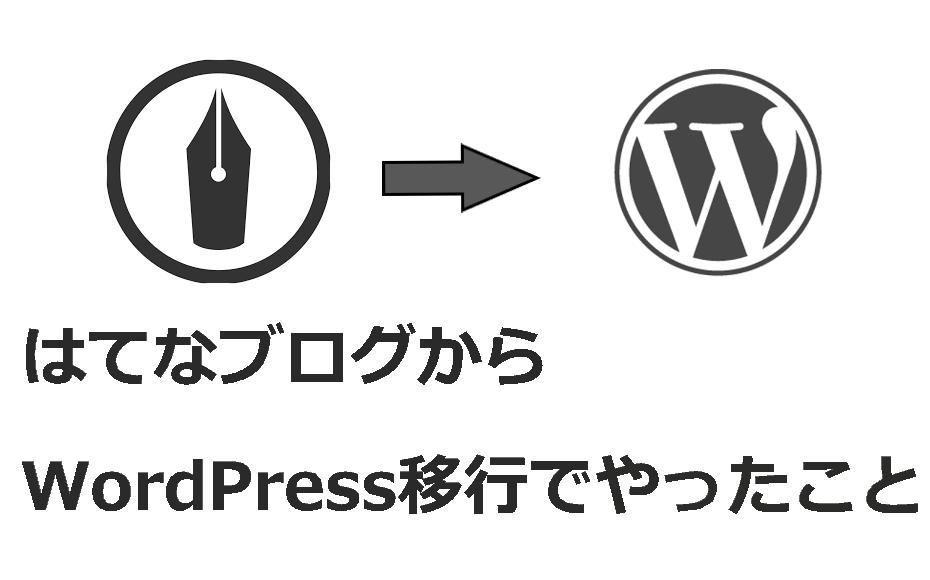 はてなブログからWordPressへの移行でやったことリスト